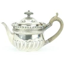 English Hallmarked Sterling Silver Victorian Bachelor Teapot