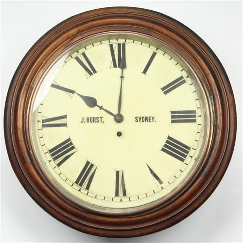 J Hurst Typewriter Repair Branch Government Stores Department Clock