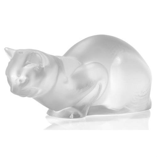 Lalique 'Chat Couche' Figure