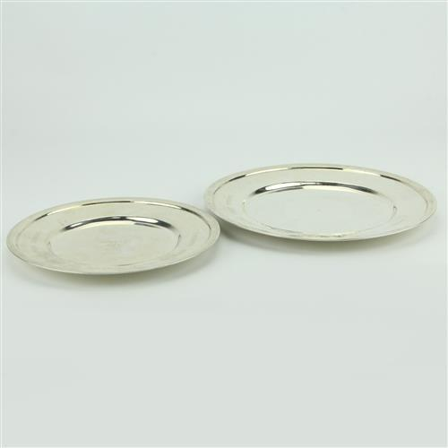 Persian Silver 840 Silver Pair of Graduated Dishes