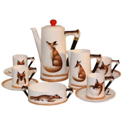 Royal Doulton 'Reynard The Fox' Demitasse Coffee Set