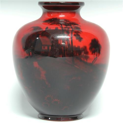 Royal Doulton Flambé Vase by Noke