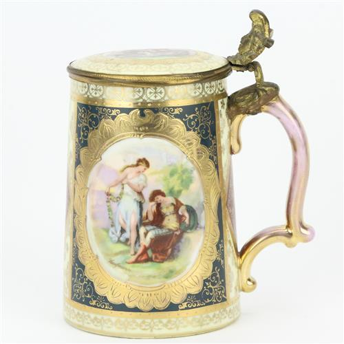Royal Vienna Lidded Tankard