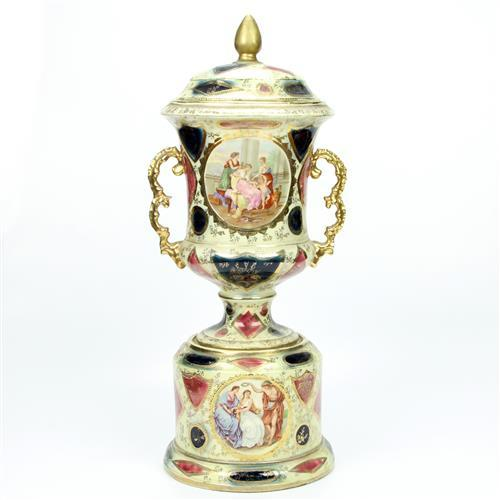 Royal Vienna Lidded Vase