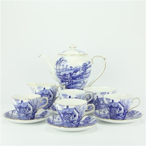 Shelley 'Glorious Devon' Coffee Set for Four Persons