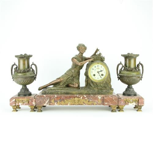 Thery Laventie French Clock Garniture