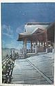 Kawase Hasui - Night at Kiyomizu Temple 39 x 26cm