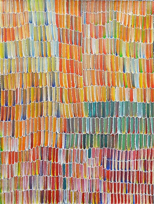 Jeannie Mills Pwerle - Wild Bush Yam 120 x 90cm