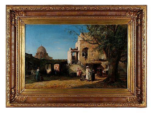 PIERRE HENRI THEODORE TETAR VAN ELVEN (1805 - 1879) - Oriental Market 51 x 80.5 cm