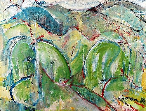ALAN WARREN (1919 - 1991) - North Coast Landscape, 1980 114 x 88 cm