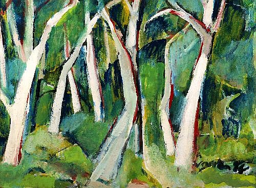 ALAN WARREN (1919 - 1991) - Trees at Hungry Head, 1984 99 x 74 cm