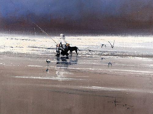 ROBERT HAGAN (1947 -) - Where Fish Dare, 1981 75 x 100 cm