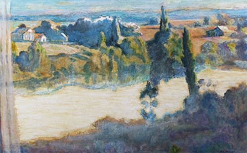ENA JOYCE (1925 - ) - The Gentle Hawkesbury, 1965 74.5 x 119 cm