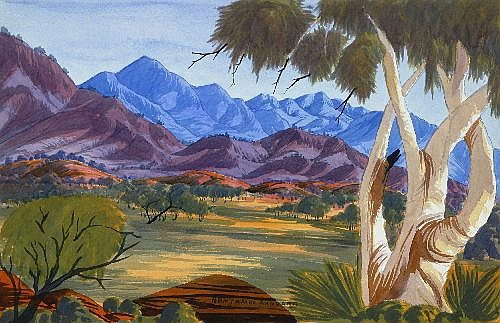 BENJAMIN LANDARA (1921-1985) - Central Australian Landscape 1961