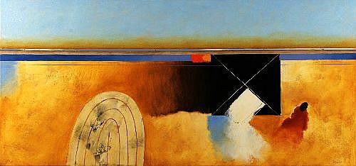 JULES SHER (1934 - ) - Old Mine Site Kalgoorlie III, 2004 80 x 170 cm