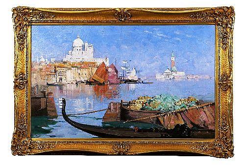 ARTHUR STREETON (1867 - 1943) - La Salute, Venice, c.late1920s 61.5 x 104 cm  (25 1/4 x 40 1/8)