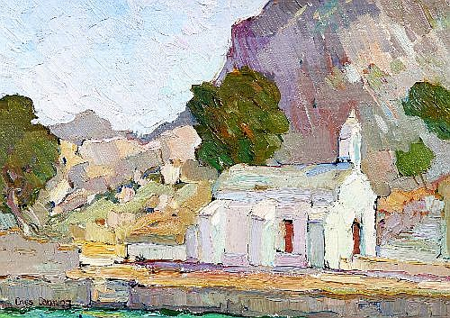 CRISS CANNING (1947 - ) - Old Church, St. George Island Castorlorizo 1986 24 x 34 cm
