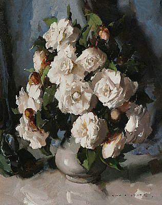 ALAN BAKER (1914-1987) - White Camellia 51 x 40.5 cm
