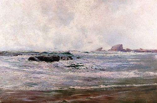 WILLIAM LISTER LISTER (1859 - 1943) - View of the Sea 87.5 x 132cm