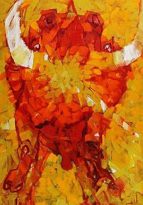 FRANK HODGKINSON (1919 - 2001) - Sun Bull 171 x 121 cm