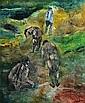 JUDY CASSAB (1920 -) - Sunny Fields 118 x 97 cm, Judy Cassab, Click for value