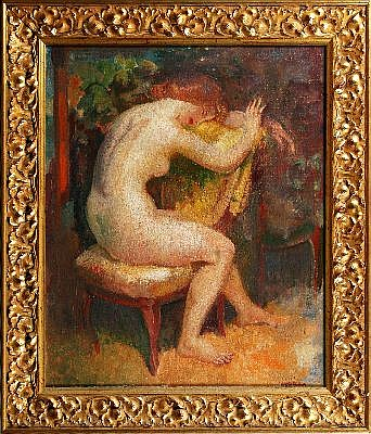 ARTHUR MURCH (1902 - 1989) - Girl Sitting 55 x 45 cm