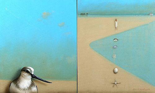 GRAEME TOWNSEND (1954 -) - Untitled (diptych) 110 x 70 cm