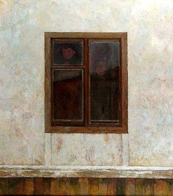 RICK EVERINGHAM (1945 -) - Faces in the Window 120 x 105 cm