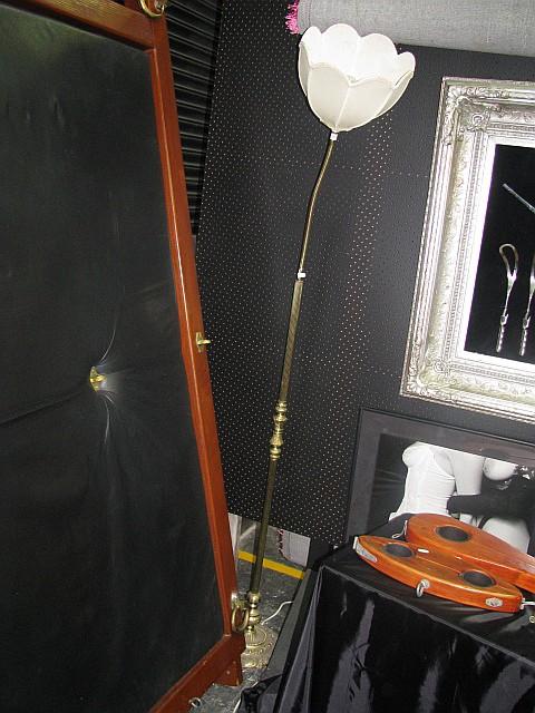 Brass Boudoir Lamp