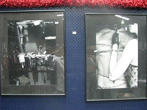 Two black and white framed photographs