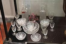 Collection of Crystal and Glass Ware incl Stuart