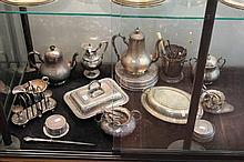 EP Wares incl Tureens, Egg and Toast Stand, Tea Wares, Cutlery, etc