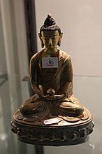 Brass Seated Buddha Figure