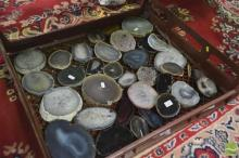 Bread Crate Polished Agate Slices