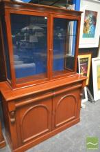 Victorian Glass Front Bookcase