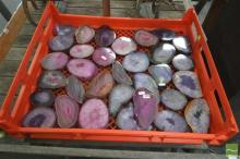 Bread Crate Polished Purple & Pink Agate Slices