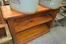 Rustic Timber Open Bookshelf