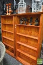 Pair of Timber Open Bookshelves
