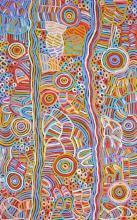 Betty Mbitjana (1955 - ) - Bush Melon - Awelye 153 x 96cm