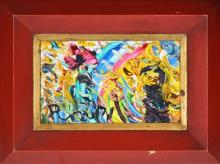 John Perceval (1923 - 2000) - Poppy Rainbow, 1971 13.5 x 23.5cm