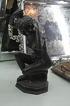 Bronze Figure of a Lady with Roses in Hair
