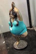 Bronze Fat Lady Figure
