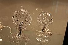 Crystal Pair of Mushroom Lamps