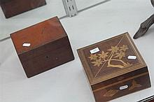 2 Vintage Boxes incl Inlaid and Cedar