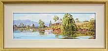 John Hingerty (1930 - ) - Upstream - Richmond River 19 x 60cm