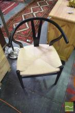 Set of 6 Wishbone Chairs in Black