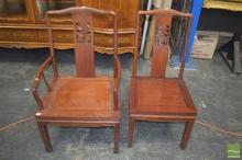 Oriental Carver Chair with Another