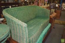 Wicker Three Seater Sofa - No Cushions