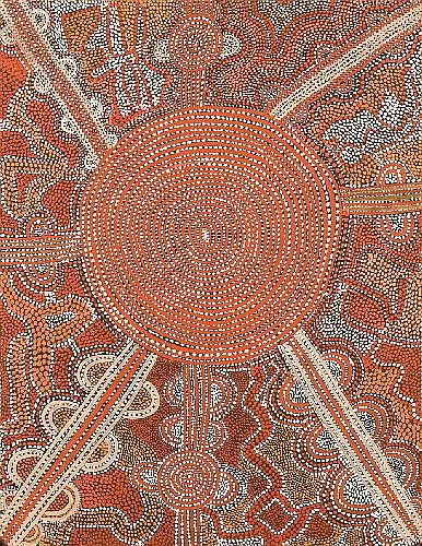 SHORTY LUNGKATA TJUNGURRAYI (CIRCA 1914 - 1987) - Sacred Ancestral Journey, 1973