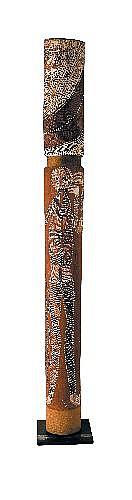 PETER MARRALWANGA (1916 - 1987) - Lorrkon, Hollow Log Coffin, circa 1977